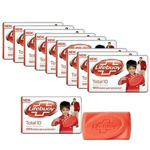 Lifebuoy Total Germ Protection Soap, With Active Silver Shield-59g x Pack Of 10