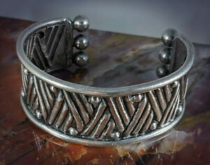 Sterling Silver Cuff Bracelet by William Spratling - Mid Century Taxco Mexico