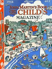 John Martin's Book The Child's Magazine August 1928 Stories/Puzzles/Crafts/Games