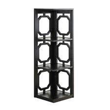 Convenience Concepts Omega 3 Tier Corner Bookcase, Black, Black - 203270Bl