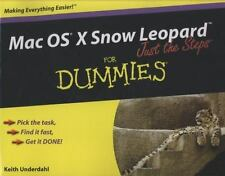 Mac OS X Snow Leopard Just the Steps For Dummies (For Dummies (Computer/Tech))