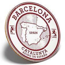 1 x Barcelona Catalunya Spain  - Round Coaster Kitchen Student Kids Gift #5723