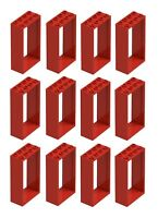 ☀️NEW LEGO RED Door Frame 2x4x6 Lot of 12 Parts Pieces #60599 House Part Piece