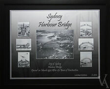 SYDNEY HARBOUR BRIDGE CONSTRUCTION FRAMED PHOTO POSTER LIMITED EDITION