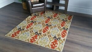 """Area Rugs Carpet Sale New,Hand Tufted  5'.3"""" X 7'.3"""" Beige"""
