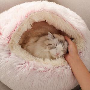 Warm Dog Cat Bed Round Plush Cat's House Cave Pet Cushion Basket Sleeping Mat