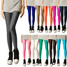 Women Sexy Fluorescent Candy Stretchy Disco Shiny Wet Slim Yoga Leggings Pants