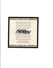 1962 DONALD HEALEY AMERICA / HEALEY SPEED EQUIPMENT ~ ORIGINAL SMALLER PRINT AD