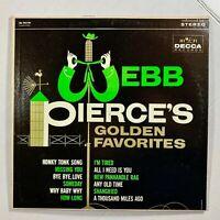 WEBB PIERCE Webb Pierce's Golden Favorites LP 1964 - Decca DL 74110 - VG+