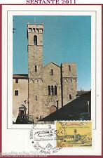 ITALIA MAXIMUM MAXI CARD ROMA 555 ABBAZIA S. SALVATORE MONTE AMIATA SI 1985 B774