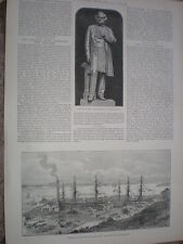 Opening of trhe new Calliope Dock at Aukland New Zealand 1888 old print