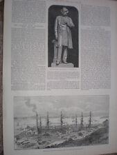 Apertura de TRhe nuevo Calliope acóplelo en Aukland Nueva Zelanda 1888 antiguos impresión