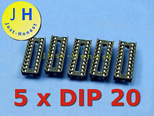 Stk. 5 x DIP 20 IC SOCKEL / SOCKET #A241