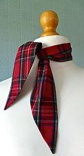 red tartan scarf, rockabilly tartan scarf, retro 50's tartan scarf, fifties tie