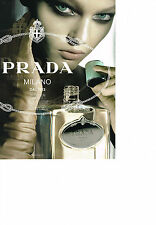 Publicité advertising  2010   PRADA   parfum INFUSION  D'IRIS  (recto verso)