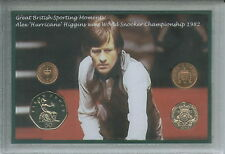 Alex Hurricane Higgins World Snooker Championship at the Crucible Coin Gift 1982