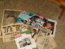 Great collection magazine, newspapers Kennedy Assination Ten pieces for the pric
