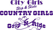 COUNTRY GIRLS GRIP AND RIDE DECAL SIZE 550MM BY 310MM PURPLE VINYL DECAL