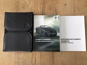 BMW 8 SERIES G14 CONVERTIBLE OWNERS HANDBOOK MANUAL WALLET 2018-2020