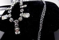 Art Deco Rhinestone chrome necklace.