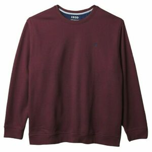 NEW IZOD Big & Tall 3XLT Mens Sweatshirt Sport Flex Long Sleeve Purple Fleece