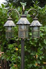 Classic candelabra outdoor lamp post triple head garden path lighting New 104841