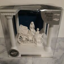 NEW Wilton Just Married Wedding CAKE TOPPER Bride and Groom, Carriage, Display S