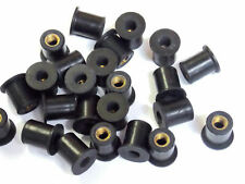 10-32 Rubber Well Nut Windscreen & Fairing 3/8 Wellnuts - 10 Quantity (Fits: Suzuki)