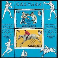 Grenada C22 OlympicGames,Munich 1972 Boxing&Equestrian MNH 1972