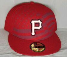 newest collection fea4a 3e79b Pittsburgh Pirates Men New Era 59FIFTY Baseball MLB Stars   Stripes Cap 7  ...