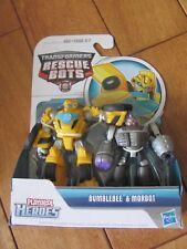 Transformers Rescue Bots BUMBLEBEE & MORBOT 2 Pack Playskool Heroes NEW