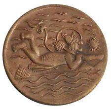 EAST INDIA COMPANY 1818 UK HALF ANNA COPPER FLYING HANUMANJI ANTIQUE OLD COIN