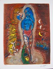 MARC CHAGALL Facsimile Signed Limited Edition Art Giclee CIRCUS I