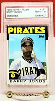 1986 TOPPS TRADED BARRY BONDS #11T PSA 8 NM-MT PITTSBURGH PIRATES