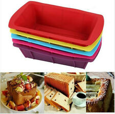 Rectangle Large Silicone Cake Mold Pan Muffin Chocolate Bread Baking Tray Mould