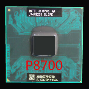 Intel Core 2 Duo P8700 CPU 2.53 GHz  Dual-Core Socket P  Processor