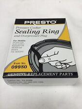 Presto 09980 Pressure Cooker Gasket Sealing Ring & Over Pressure Plug Genuine