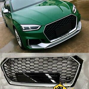 RS5 STYLE FIT AUDI A5 S5 B9 2017-2019 FRONT BUMPER GRILLE HONEYCOMB HOOD GRILL
