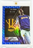 2015-16 Panini HV KB20 Channel the Villain Blue #19 Kobe Bryant - L.A. Story