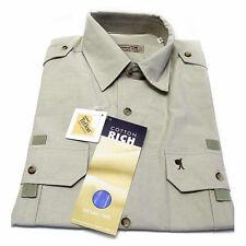 sportivo Uomo Camicia Casual manica corta Cotone Rich M 48/50 beige chiaro