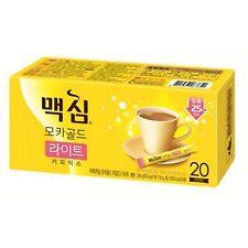 Korea Instant Coffee Mix New Maxim Mocha Gold Light 25% Less Sugar 20 sticks