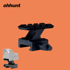 Ohhunt Red Dot Riser Mount 3 Slots Picatinny Rail 20MM Mount Base Adapter Black