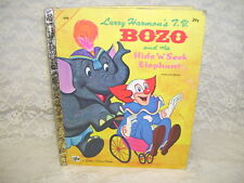 A LITTLE GOLDEN BOOK BOZO AND THE HIDE 'N' SEEK ELEPHANT 1968 LARRY HARMON'S T.V