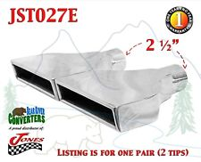 "JST027E PAIR 2.5"" Stainless Rectangle Exhaust Tips 2 1/2"" Inlet 8"" Outlet"