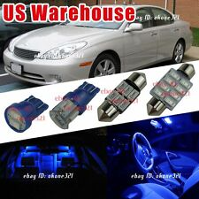 13-pc Pure Blue Interior LED Lights Package Kit For 04-06 Lexus ES330
