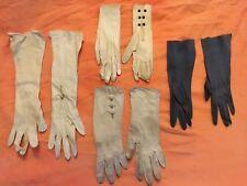 Anciens Accessoires De Mode 4 Anciennes Paires De Gants Femme ( Lot 1 )