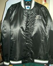 Starter Satin Varsity Jacket ~ Logo ~ Snap & Zip Black Mens XL $225  NWT