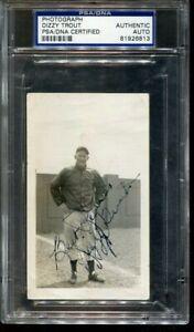 Dizzy Trout Signed Photo 3x4.5 Autographed Detroit Tigers PSA/DNA