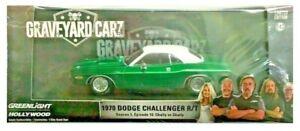 Green Machine 86553 1970 Dodge Challenger Graveyard Cruz Greenlight CHASE 1/43