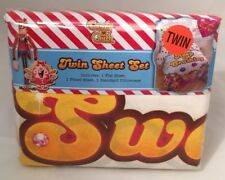 Candy Crush Twin Sheet Set Sheets with Candy Pieces & Sweets & Pillowcase New